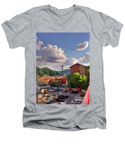 Men's V-Neck T-Shirt featuring the photograph Gatlinburg Tn by Janice Spivey