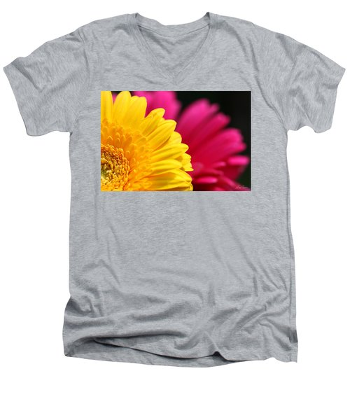 Gerbera Daisies Men's V-Neck T-Shirt by Diana Haronis