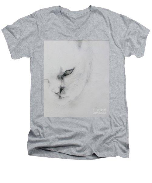 Ghost Cat Men's V-Neck T-Shirt