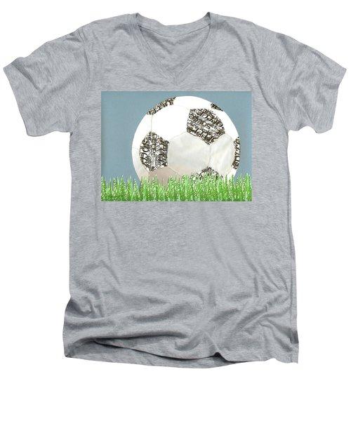 Go For It Men's V-Neck T-Shirt