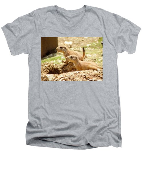 Go West Young Man Men's V-Neck T-Shirt
