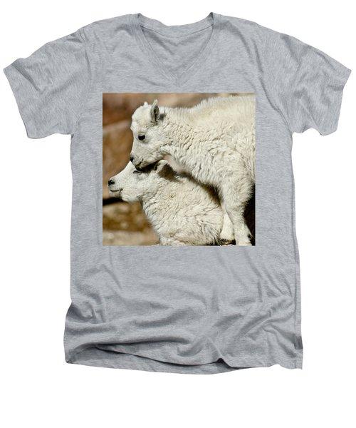 Goat Babies Men's V-Neck T-Shirt