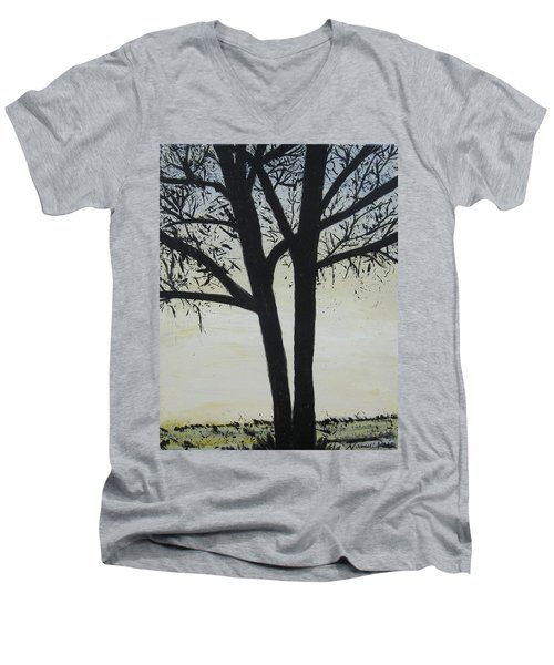 God Whispers Men's V-Neck T-Shirt