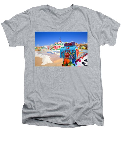Men's V-Neck T-Shirt featuring the photograph God's Mailbox by Hugh Smith