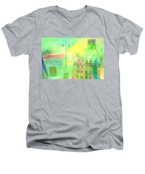 Going Places Men's V-Neck T-Shirt by Susan Stone