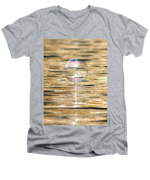 Golden Bubble Men's V-Neck T-Shirt
