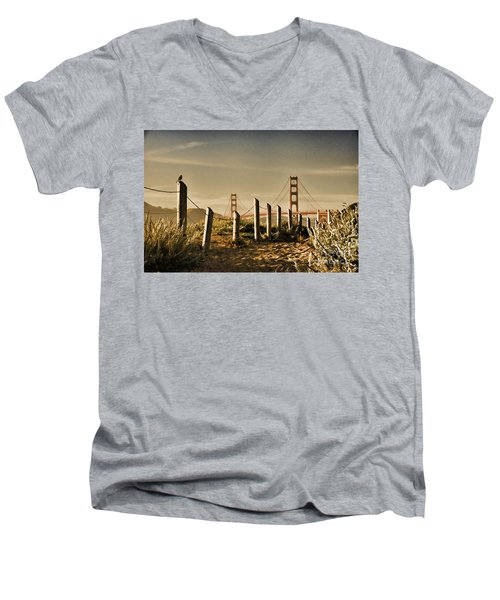 Golden Gate Bridge - 3 Men's V-Neck T-Shirt