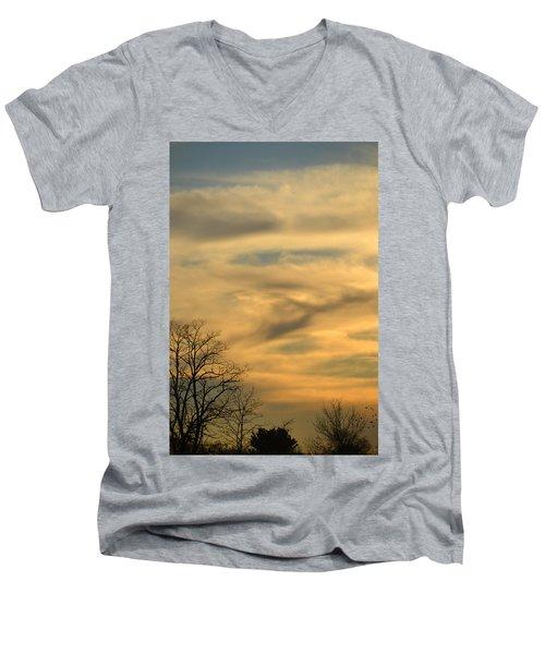 Golden Hue Men's V-Neck T-Shirt