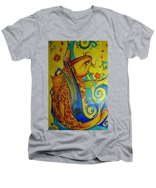 Golden Koi Men's V-Neck T-Shirt