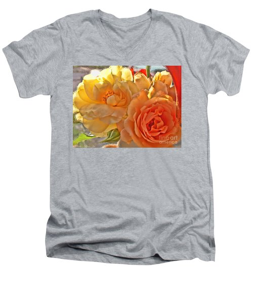 Men's V-Neck T-Shirt featuring the photograph Golden Light by Debbie Portwood
