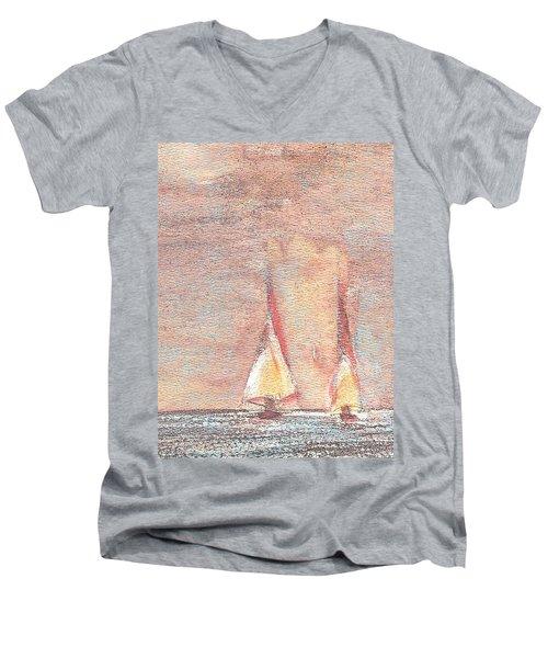 Golden Sails Men's V-Neck T-Shirt