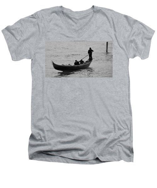 Men's V-Neck T-Shirt featuring the photograph Gondola  by Eric Tressler