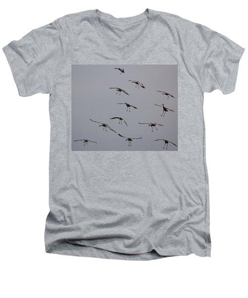 Men's V-Neck T-Shirt featuring the photograph Good Luck Finding A Parking Spot by Don Schwartz