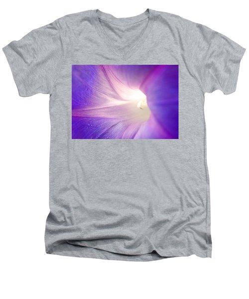 Good Morning Glory Men's V-Neck T-Shirt by Melanie Moraga