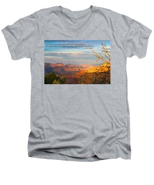 Grand Canyon Splendor - With Quote Men's V-Neck T-Shirt