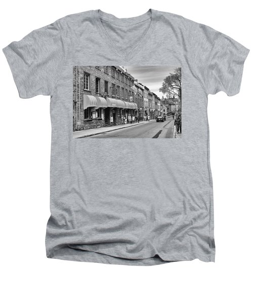 Men's V-Neck T-Shirt featuring the photograph Grande Allee by Eunice Gibb