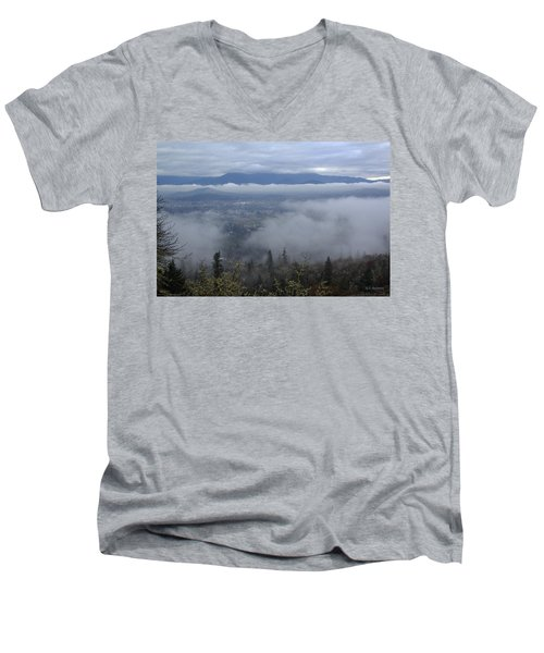 Men's V-Neck T-Shirt featuring the photograph Grants Pass Weather by Mick Anderson