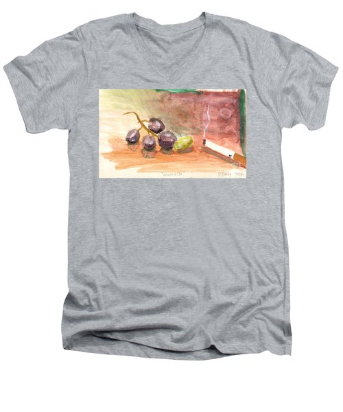 Grapeality Men's V-Neck T-Shirt