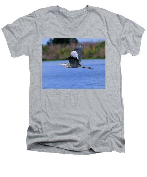 Great Blue Inflight Men's V-Neck T-Shirt
