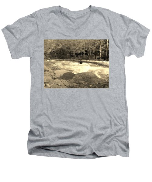 Great Smoky Mountain Men's V-Neck T-Shirt by Janice Spivey