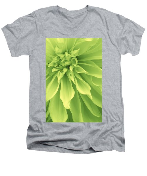 Men's V-Neck T-Shirt featuring the photograph Green Sherbet by Bruce Bley