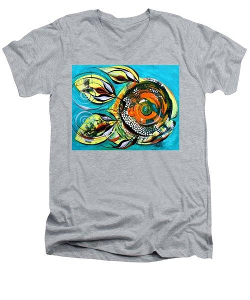 Gretchen Fish A Citrus Twist Men's V-Neck T-Shirt