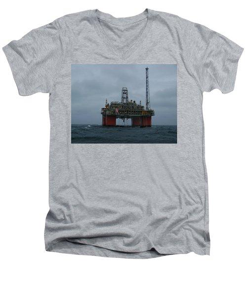 Grey Day At Snorre Men's V-Neck T-Shirt