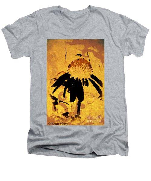 Grunge  Daisy Art Men's V-Neck T-Shirt