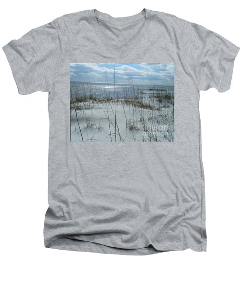 Men's V-Neck T-Shirt featuring the photograph Gulf Coasting  by Janice Spivey