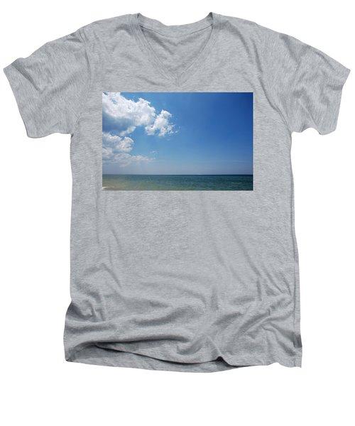 Gulf Sky Men's V-Neck T-Shirt by Kay Lovingood