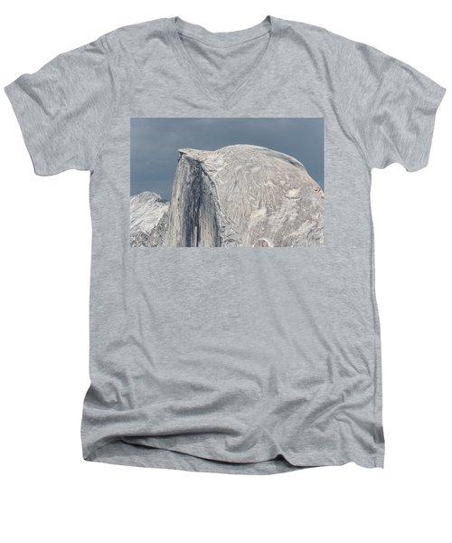 Half Dome From Glacier Point At Yosemite Np Men's V-Neck T-Shirt by Michael Bessler