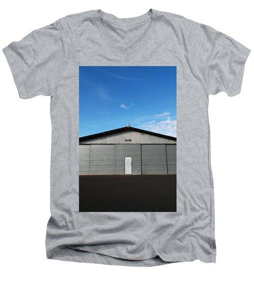 Men's V-Neck T-Shirt featuring the photograph Hangar 2 by Kathleen Grace