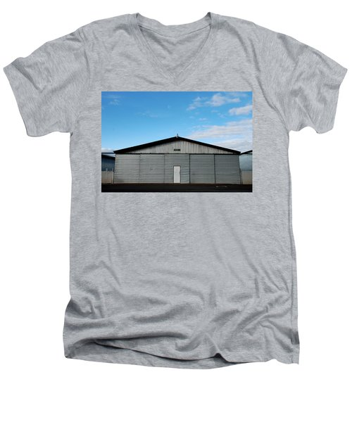 Men's V-Neck T-Shirt featuring the photograph Hangar 2 The Building by Kathleen Grace