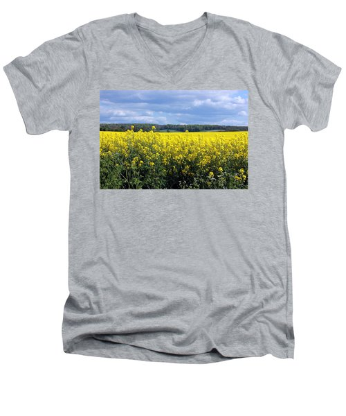 Hay Fever Men's V-Neck T-Shirt by Rdr Creative
