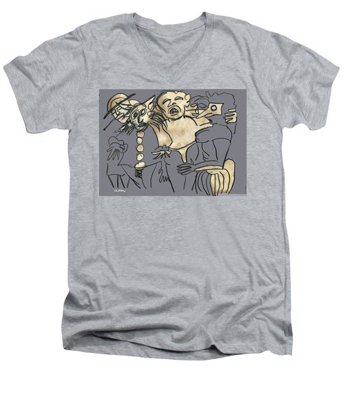 He Overdid It At The Parade Men's V-Neck T-Shirt