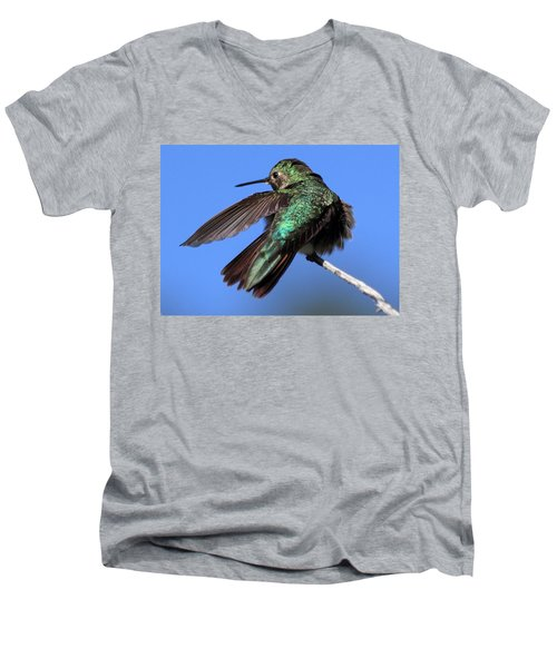 Men's V-Neck T-Shirt featuring the photograph He Went That Way by Shane Bechler