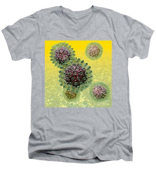 Hepatitis B Virus Particles Men's V-Neck T-Shirt