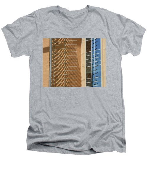 High Noon Two Men's V-Neck T-Shirt by Lenore Senior