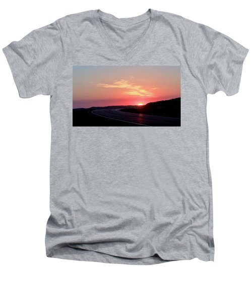 Highway To The Sky Men's V-Neck T-Shirt