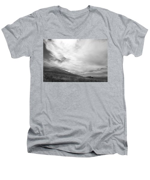 Men's V-Neck T-Shirt featuring the photograph Hillside Meets Sky by Kathleen Grace