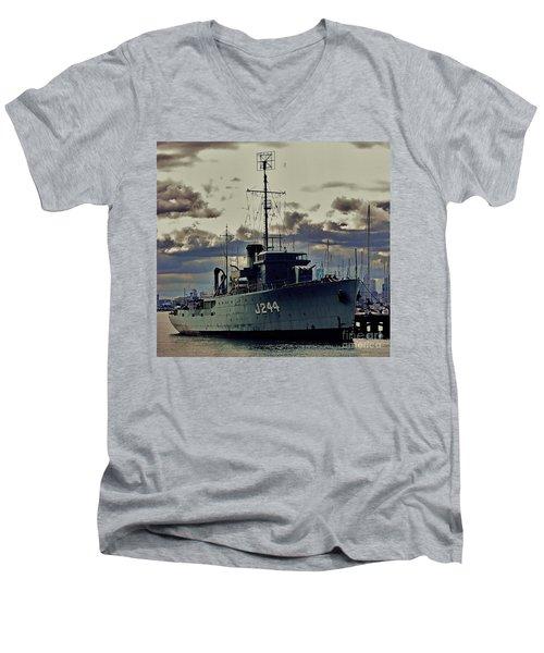 Men's V-Neck T-Shirt featuring the photograph Hmas Castlemaine 1 by Blair Stuart