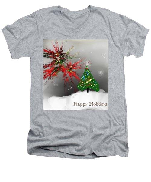 Holiday Card 2011a Men's V-Neck T-Shirt