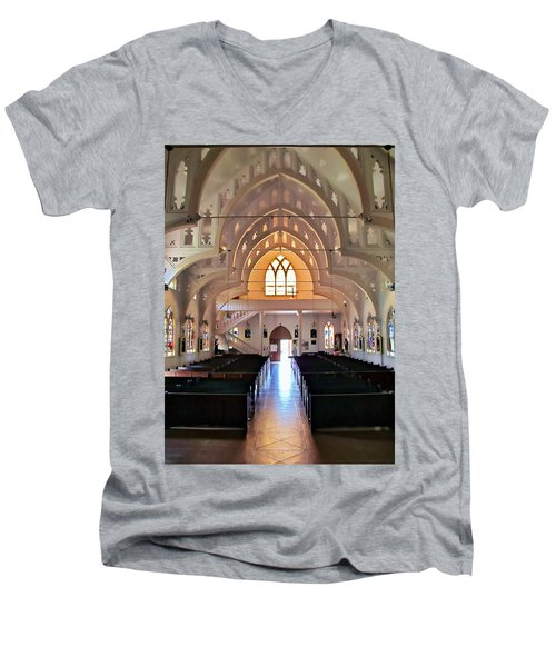 Men's V-Neck T-Shirt featuring the photograph Holy Rosary 2 by Dawn Eshelman