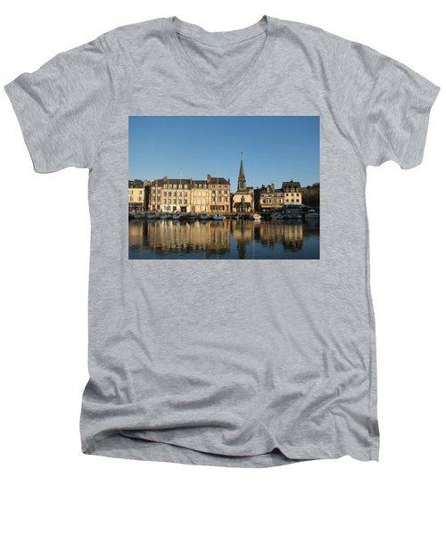 Honfleur  Men's V-Neck T-Shirt by Carla Parris