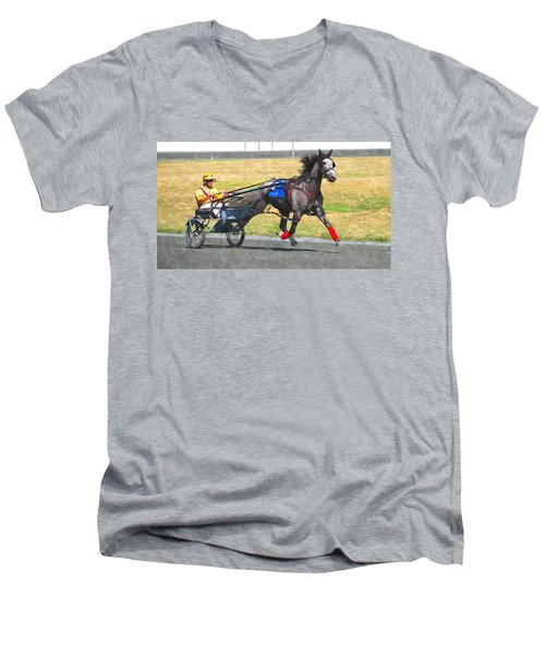 Men's V-Neck T-Shirt featuring the photograph Hooray For The Gray by Alice Gipson