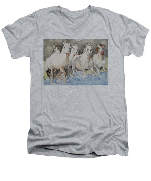 Horses Thru Water Men's V-Neck T-Shirt