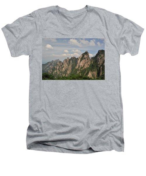 Huangshan Granite 2 Men's V-Neck T-Shirt