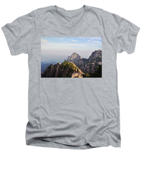 Huangshan Morning Men's V-Neck T-Shirt