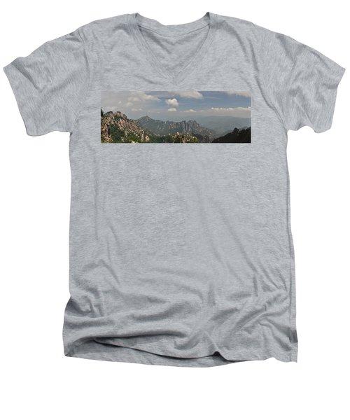 Huangshan Panorama 1 Men's V-Neck T-Shirt