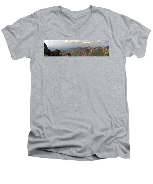 Huangshan Panorama 3 Men's V-Neck T-Shirt